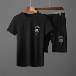 2020 new planner T shirt men's sportswear autumn and winter men's sportswear letter printing casual men's sports jogging clothes tracksuit