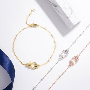 S925 Sterling Silber Hufeisen Armband Mikro-Intarsien voller Diamanten einfache Allgleiches Armband
