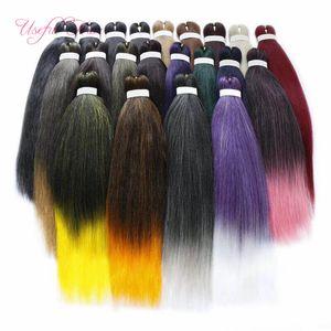"""Pre étiré cheveux facile tresse haute qualité ombre jumbo tressage cheveux synthétiques tresses de coiffe de cheveux extensions de cheveux 20 """"26"""" fibre de température basse température"""
