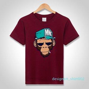 mens designer t shirts cool T-Shirts Cotton Plus Size 5XL Tees monkey print Short Sleeve Men T Shirts Male TShirts Camiseta Tshirt d02