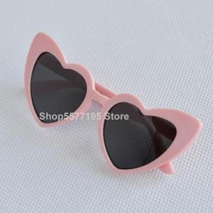DD baby girl sunglasses for children heart 2020 TR90 black pink red heart sun glasses for kids polarized flexible uv400