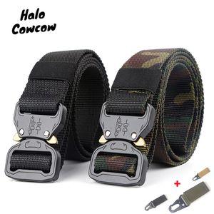 Mens Army Tactical Belt Molle Nylon Belt Outdoor Multifuncional Treinamento Men Cintura tira Jeans ceintures Masculino