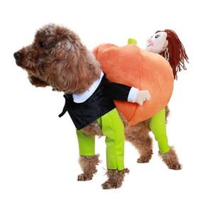 Traje de Cosplay divertido del perro del animal doméstico juego ropa de Halloween para Perros del partido calabaza Vestirse camisa de perro Gato Ropa Disfraz de Perro