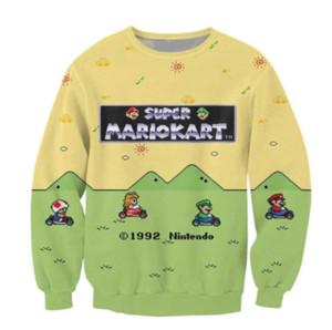 New Style Super Mario Kart Crewneck Sweatshirt the adorable Toad Princess Peach Luigi Print Sweats 3D Print Hoodies fz2169