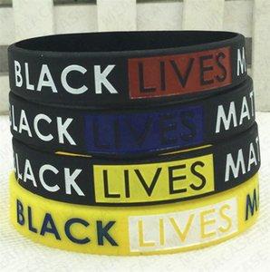 19 Couleurs NOIR MATTER Wristband lettres VIES Imprimer JE RESPIRER Bracelet en silicone Bracelets caoutchouc Bracelets Bracelets Party Cadeaux D7107