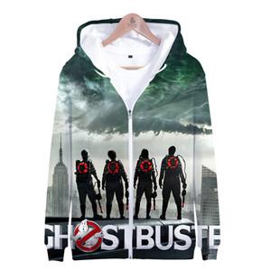 Ghostbusters Zip Up Sweat à capuche 3D imprimé drôle Sweats à capuche Casual Sweat à capuche zippé Hommes Ghost Busters Cosplay Veste Halloween