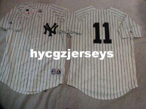 Ucuz beyzbol NY BRETT GARDNER # 11 dikili gömlek Jersey BEYAZ Yeni Erkek Satılık formaları Büyük Ve Uzun SIZE XS-6XL dikişli