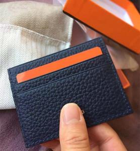 Fotos reales Cartera mágica Ultra-delgado Porta tarjeta de cuero real Diseño de moda Hombre / Mujer Titular de tarjeta de crédito Banco delgado Caja de tarjeta de identificación con caja