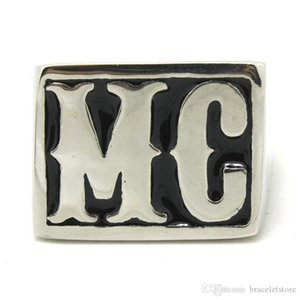 4шт/много размер 8-14 Motorbiker МС прохладный кольцо нержавеющей стали 316L мода ювелирных изделий горячая распродажа байкер стиль кольцо МК