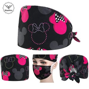 Beautician Practical Hat Printing Cap Mask Food Service Working hat Cheap Mouth Face masks Man Woman Dustproof Protection by free shipping