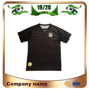 2020 Brasile Santos Club Soccer Jerseys 19/20 Santos Terza via Black Oliveira Soccer Camicia da calcio Henrique Cope Kayke Calcio a maniche corte UNIF