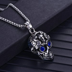 Stainless Steel Claw Punk Motorbike Necklace Men silver skull Necklaces & Pendants Hip-hop Gold mask Jewelry For Gift