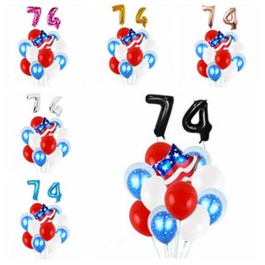 4. Juli Balloon USA Independence Day Dekoration Ballon-Set Latex Folienballon amerikanische Partydekoration Mode-Druck-Ballone LT851