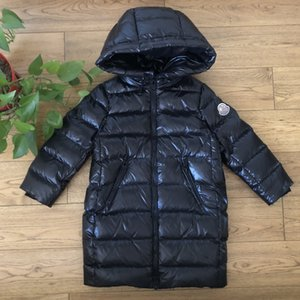 White Duck 2020 winter boys and girls long knee-high Down jacket down jacket thickened baby children