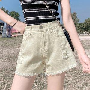 Denim Shorts Jeans Woman Plus Size Jean Femme High Waist Short Mujer Summer Shorts Feminino Black Blue Apricot White
