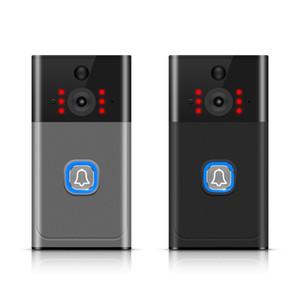 WiFi sans fil vidéo Sonnette Smartphone à distance antipluie Deux caméra de sécurité vidéo Way Parlez 166 ° - Argent