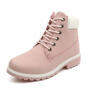 New 2019 Autumn Early Winter Shoes Women Flat Heel Boots Fashion Women's Boots Brand Woman Ankle Botas Hard Outsole ZH813