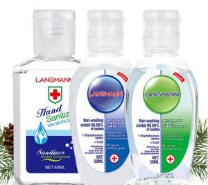En stock con vitamina E 50ml 60ml desechables Gel Aurora aclarado gratuito germicida Gel 99,99% bacteriostática viaje desinfectante de la mano de DHL M039