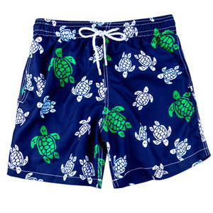Fashion-Brand Shorts Designers Beach Vilebre Boy Printed Multicolor Sea Turtle For Underwear Men's Surf Swimming Board Men Child