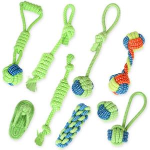 Interattivi del cane molare giocattolo lavabile Pet Chew Toy corda del cotone Materiale Puppy dentizione giocattoli da compagnia Giocattoli animali accessori per la casa