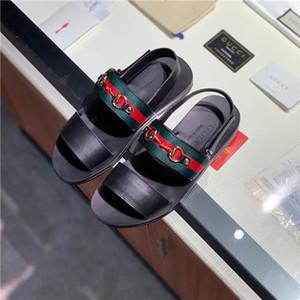 2019 Nouveaux hommes de la mode antidérapante plage en plein air chaussures en cuir véritable chaussure Lounger Une pédale Loisirs unique chaussure peau de vache Sandales d'affaires