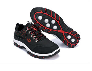 Vendita calda-e in autunno scolaro traspirante è il pattino di ricreazione, scarpe di sicurezza antiscivolo lace-up del piede corre scarpa, viaggi nera G1.55 scarpa