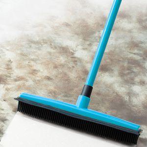 Floor Brush Multifunctional Telescopic Broom Pet Hair Removal Brush Clean Wipe Window Tool Household Cleaning Accessories