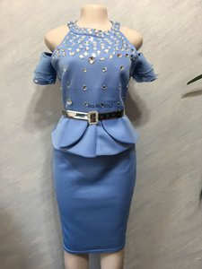 New Trendy Style African women evening party Dresses Autumn Two pieces Sets match Skirt for lady African dresses for women