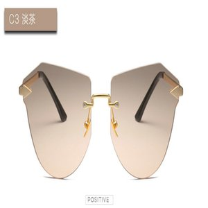 Arrow Frameless gold Sunglasses Rimless Sunglasses women heart shape Female Metal Sun Glasses Womens LOVE Glasses Frameless Design FCBAc