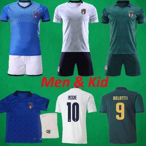 2020 ITALIE Football Maillots Hommes + enfants de soccer Ensembles uniformes 20 21 Italia BONUCCI INSIGNE Jorginho Football Chemises ITALIENNE Kits de football