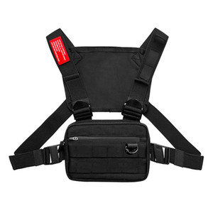 1PCS Männer Tactical Gürteltasche Tactical Vest Brusttasche Hip Hop Funktion Chest Rig-Pack