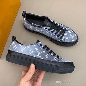 Louis Vuitton LV shoes 2020 Eğitmen Arena ayakkabılar Gerçek Deri Trainer Sneaker Erkek Günlük Ayakkabılar arılar shoes39-44