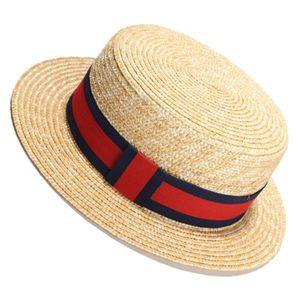 Урожай Золотая Коса Соломенная Шляпа Леди Мода Весна и Лето Путешествия Шляпа Летний Солнцезащитный Крем Плоская Соломенная Шапка для Женщин