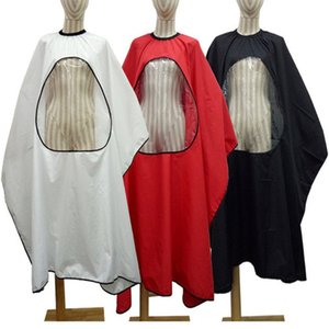 DHL Shipping Professional Hairdressing Gown Apron Transparent Design Adults Hair Cuts Cape Hair Styling Wraps Salon Haircut Umbrella Tools