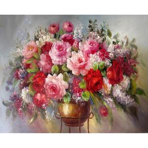 5D fai da te diamante della casa della pittura interni del diamante del fiore ricamo mosaico diamante decorazione domestica Artigianato