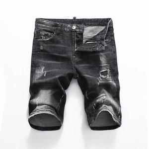 2020 men's new ripped jeans five-point pants are available in a variety of colors, from the hands of the master