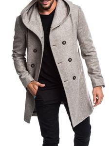 Erkek Kış Yün Coat Sonbahar Erkek Uzun Trençkot Pamuk Casual Yün Erkekler Palto Erkek Palto ve Ceketler Asya S-3XL