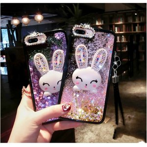 Diamond Rabbit Cover For Meizu Mx6 Case Liquid Mobile Phone Cases For Meilan Note 3 5 6 M5 M6 3s 5s S6 Bracket Phone Case Cover