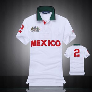 Дизайнер POLO Shirt Простые моды полосатых классическая мужская рубашка вышивка хлопок мужской дизайнер футболки