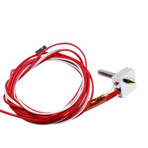MK8 Hot End Комплект DIY Hot End + Патрон Нагревателя Алюминиевый Тепловой Блок Для 3D Принтера Части 1.75 мм 0.4 мм