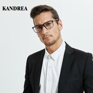 cadre atmosphère classique des hommes Kandrea contrat monture de lunettes noir