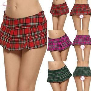 Womens School Girl Skirt Fashion Harajuku Miniskirt Club Plaid Shirts Low Waisted Sexy Lattice Mini Skirt Hipster Woman Clothes
