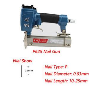Air Pin cloueuse 4-8 bar Air Agrafeuse pour cloueuse Nail Grain Longueur 10-25mm Mosquito Nail pneumatique FF-P625