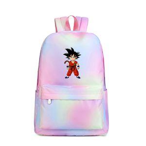 Hot Son Goku Печати Рюкзак Kakarotto Дизайн Женщины Рюкзак Водонепроницаемый Школьные Сумки Холст Путешествия Rugzak