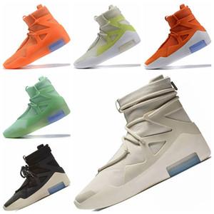 2020 Hot Shoes Rei temor de Deus 1 Nevoeiro Basketball Botas Medo de Deus 1 tampão de borracha Built-in Zoom Air de amortecimento calçados esportivos