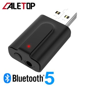 Portable Audio Vídeo Adaptador Wireless CALETOP 5.0 Bluetooth Transmissor Receptor de TV 2 EM 1 3,5 milímetros AUX Estéreo USB Audio Mini