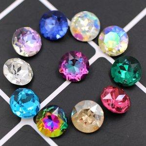 Diamant de luxe de 8 mm Nouveau cristal colle pointback sur verre strass cristal de haute qualité strass forme ronde vêtements Accessoires de bricolage