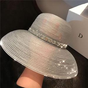 20ss Anti-UV Cappelli Womens cappello largo del sole del bordo dei cappelli Holiday Beach Cappello di alta qualità marea pescatore cappelli eleganti di trasporto libero