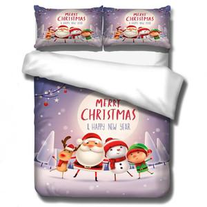 3D Christmas Abdeckkappenset Soft-Geschenk Bettwäsche-Set Tröster Bett gesetzt Valentinstag Pillowcase King Bedding komfortabel