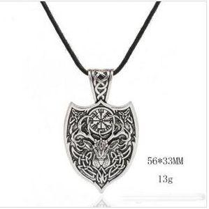 Z7 Personalidad Mitología nórdica Deer Head Amuleto colgante Viking Jewelry Necklace para hombres y mujeres